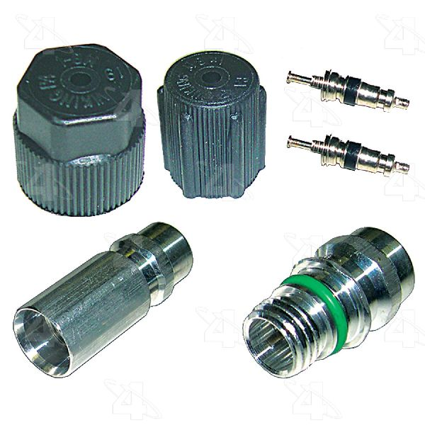 Four Seasons A/C System Valve Core and Cap Kit
