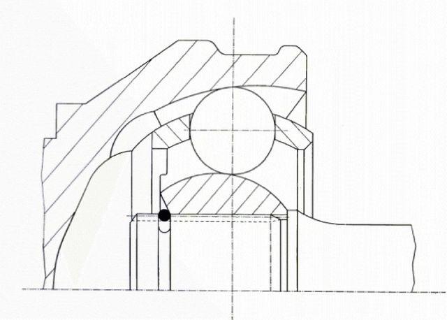 GKN Loebro Drive Shaft CV Joint Kit  Front Outer