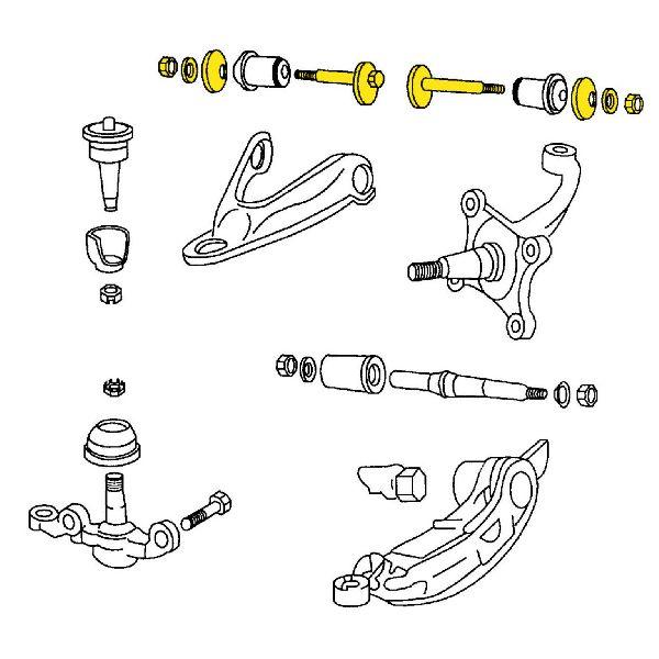 Moog Alignment Camber Kit  Rear Upper