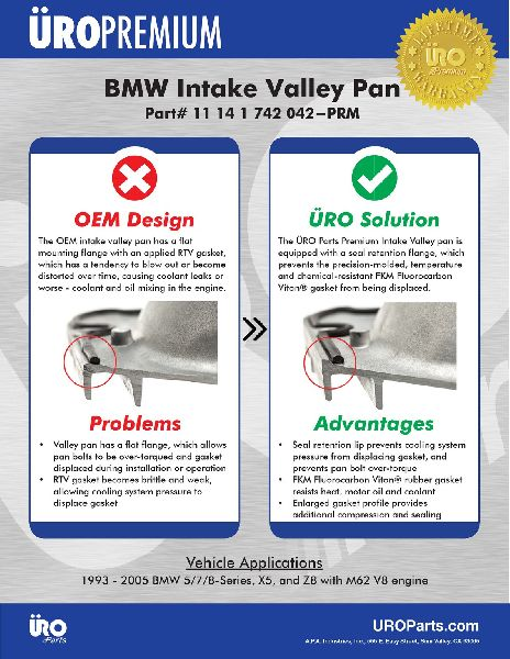URO Parts Valley Pan Cover